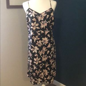 Madewell navy dress with flowers